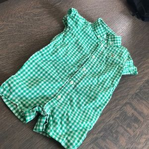 Green checkered jumpsuit